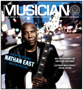 Nathan East on cover of IM