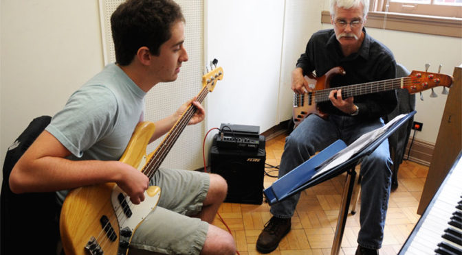 teaching private lessons on bass