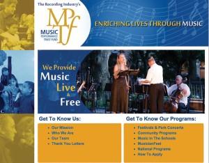 mptf music performance trust fund