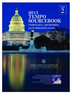 Tempo 2015 Sourcebook Cover