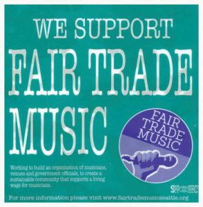 we support fair trade music