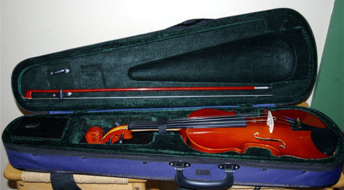 Travel Advice with violin case