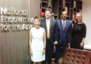 L to R) NEA Chair Jane Chu, AFM President Ray Hair, AFM Legislative Director Alfonso Pollard, and NEA Music & Opera Director Ann Meier Baker at NEA headquarters in Washington, DC.