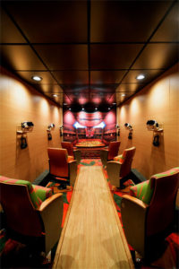 The interior of VAN Beethoven, Los Angeles Philharmonic's virtual reality experience. (Photo: Kelle Ramsey)