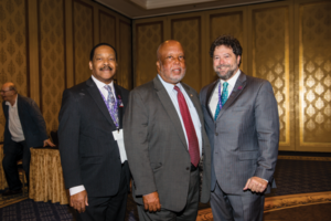 (L to R) AFM Legislative-Political Director and Diversity Director Alfonso Pollard, Congressman Bennie Thompson, and AFM President Ray Hair.