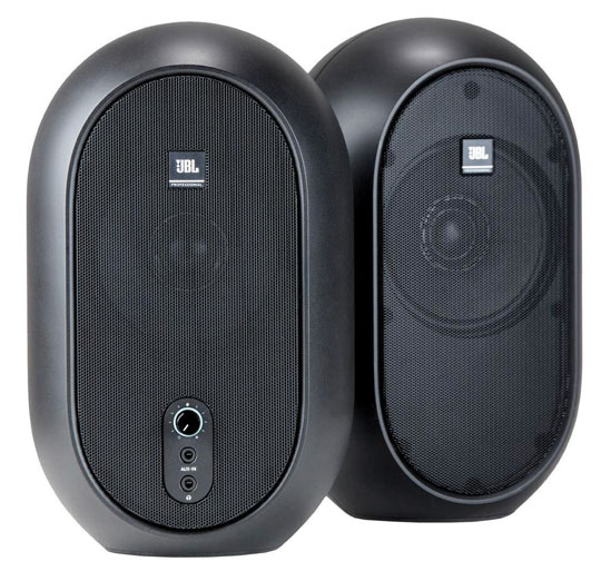 JBL 104 compact powered desktop reference monitors