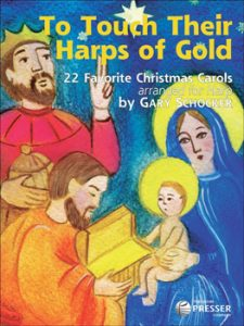 to touch their harps of gold