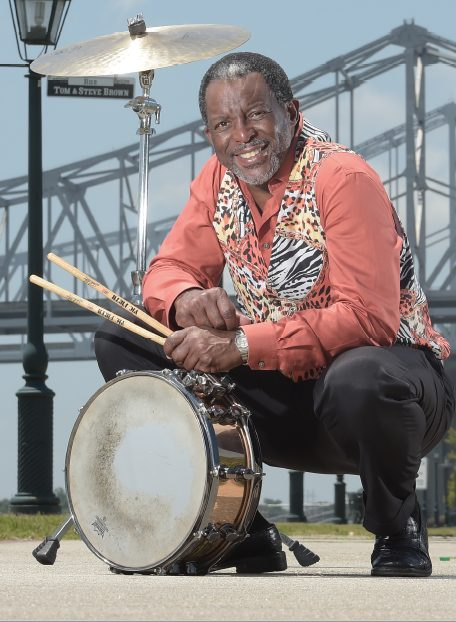 Herlin Riley outdoors New Orleans