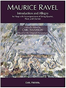 book cover for Maurice Ravel Introduction and Allegro